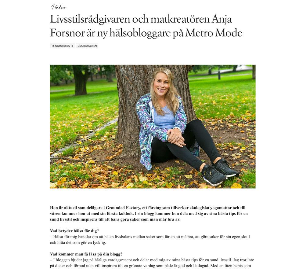 livsstilsrådgivare - Anja Forsnor - Metro Mode 140681f5ce9c1