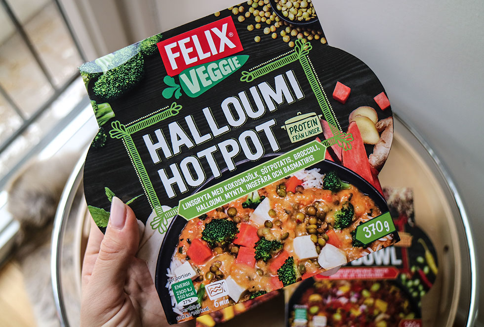vegetariska rätter halloumi