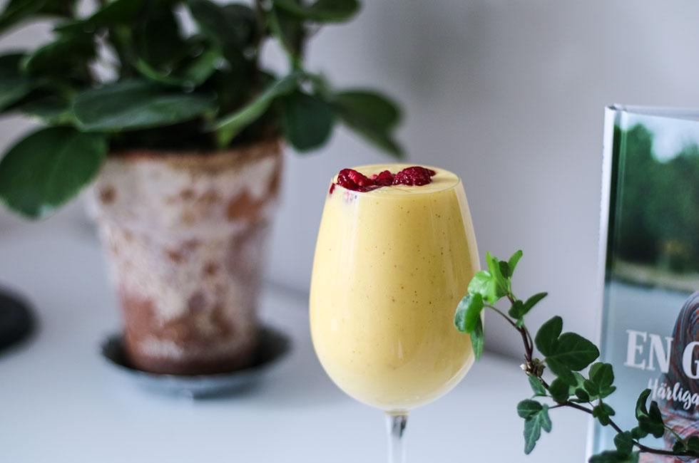 smoothie hallon mango